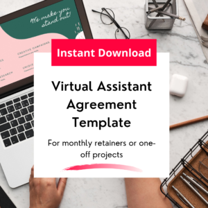 virtual assistant agreement template